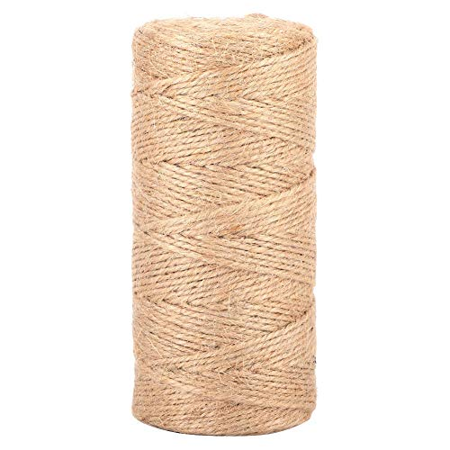 color natural free size 50 m decoraci/ón de 2 mm regalo Cord/ón de cuerda de yute natural de fibra de yute para manualidades manualidades decoraci/ón