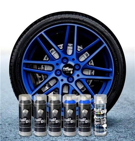 Sophisticauto Full Dip Pack Llantas 6 Sprays Azul ELECTRICO Candy Perla Brillo