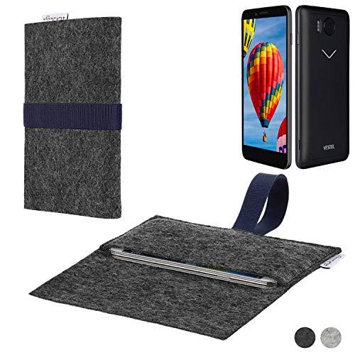 flat.design Handy Hülle Aveiro für Vestel V3 5030 passgenaue Filz Tasche Case Sleeve Made in Germany