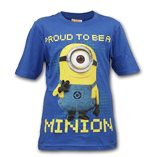 Minions Ich einfach Unverbesserlich Kinder Shirt T-Shirt (Blau, 134-140 (9-10 Jahre))