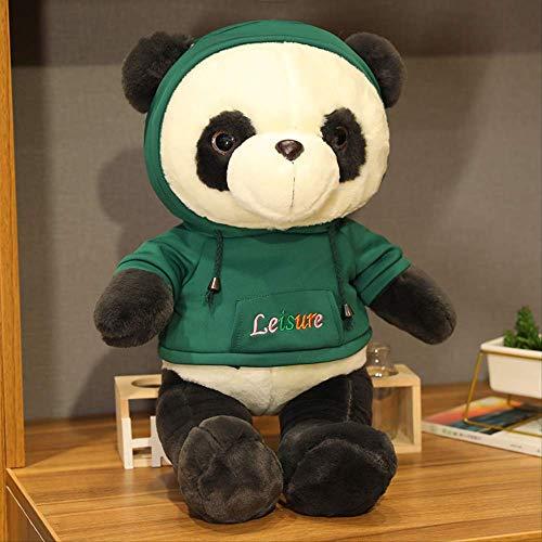 Handgemaakte Zwart-witte Panda Pop Knuffel Schattig Creatief Bed Grote Pop Schattige Knuffel Slapen Kussen Lappenpop 60 cm Groen