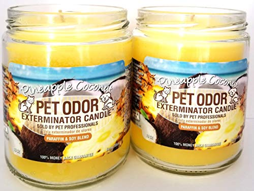 Specialty Pet Products Pet Odor Exterminator Candle, Pineapple & Coconut - Pack of 2