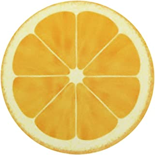 マウスパッド丸型 個性的 おしゃれ 柔軟 かわいい ゴム製裏面 ゲーミングマウスパッド PC ノートパソコン オフィス用 円形 デスクマット 滑り止め 耐久性が良い 面白いフルーツパターン (レモン)