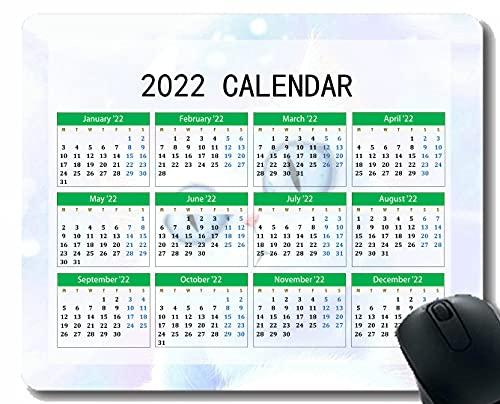 2022 Calendario Alfombrilla de ratón, Gato dibujando luz Brillo Cuaderno de Escritorio Alfombrilla de ratón para Trabajar y Juegos