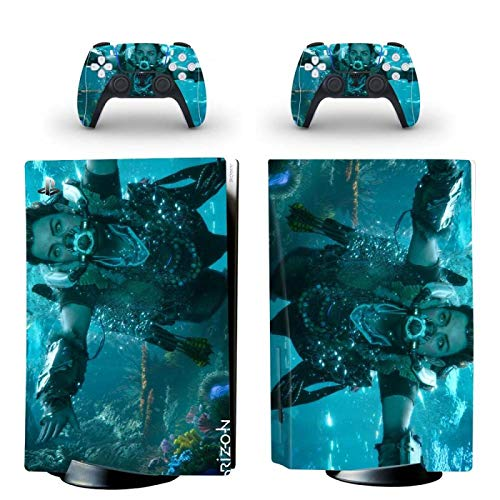 FENGLING PS5 Standard Disc Edition Skin Sticker Cover para consola y controlador PS5 Skin Sticker Vinilo