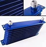 10 Rows Aluum Universal Engine Transmission Oil Cooler Racing Sport Rally