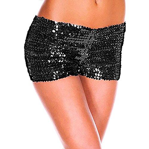 Carnaval Shorts Mujer Elegante Verano Flash Lentejuelas Pantalones Cortos Fashion Fiestas Clubes...
