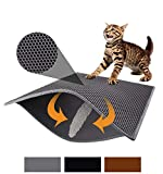 Pieviev Blackhole Cat Litter Mat-Super Size Rectangular 30''X24''