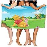 Lfff Winnie The Pooh con Amigos Absorbente Suave y Ligero para baño Piscina Manta de Picnic de Yoga Toallas de Microfibra 80 cm * 130 cm