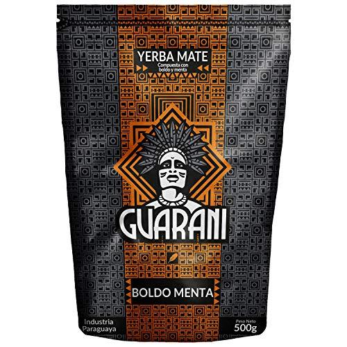 Mate Tee Guarani Menta Boldo 500g | Yerba Mate aus Paraguay |Hohe Qualität | Stark anregender Mate Tee |