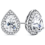 Milacolato 925 Sterling Silver Halo Stud Earrings for...