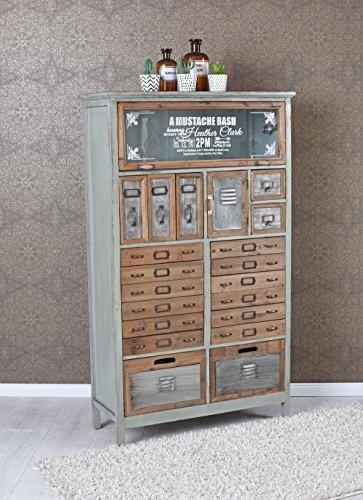 Vintage Kommode Loft Möbel Apothekerschrank Industrial Schrank Hochkommode lof005 Palazzo Exklusiv