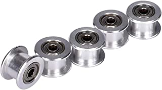 BALITENSEN 5pcs Toothless GT2 Idler Pulley 16 Teeth 3mm Bore for 3D Printer 6mm Width Timing Belt (Bore 3mm, Toothless)