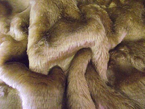 CRS Fur Fabrics Piel sintética de Pelo Corto Cuidado Oso Tela antílope marrón