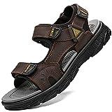 Lvptsh Sandali Sportivi Uomo Sandali de Passeggio Estivi All'aperto Escursionismo Trekking Sandals Pelle...