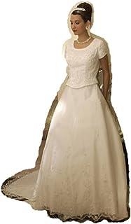 fe211ce80b8b Eternity by Millennial Sun #7509 White Size 14 Bridal Gown LDS Modest
