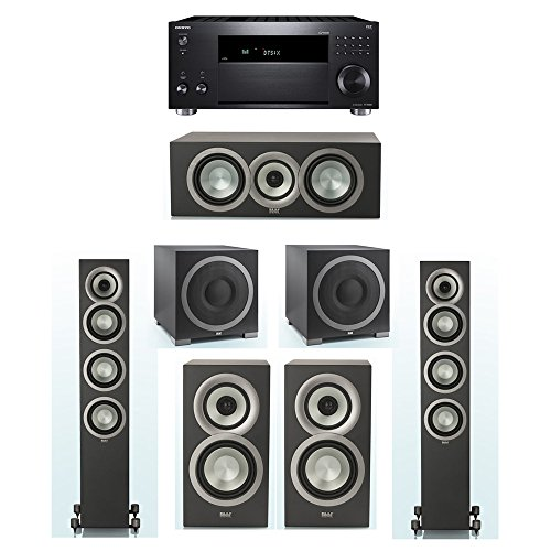 Why Choose ELAC Uni-Fi Slim Black 5.2 System with 2 ELAC FS-U5 Floorstanding Speakers, 1 CC-U5 Cente...