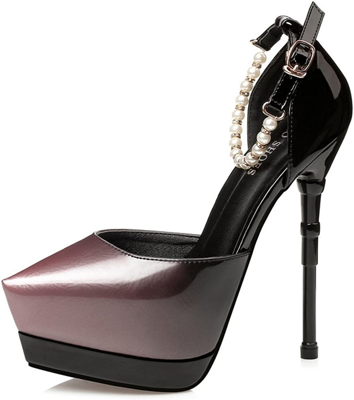 Bon Soir Women's High Heel Fashion Stilettos Peep Toe Pump Heeled Sandals