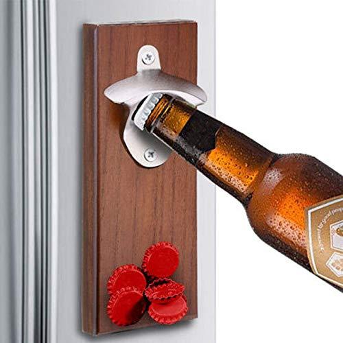 letaowl Apribottiglie da Birra Apribottiglie A Magnete Decorazioni per La Casa Rustiche Fissate al Muro Apriscatole in Legno Magnete da Birra Strumenti da Cucina