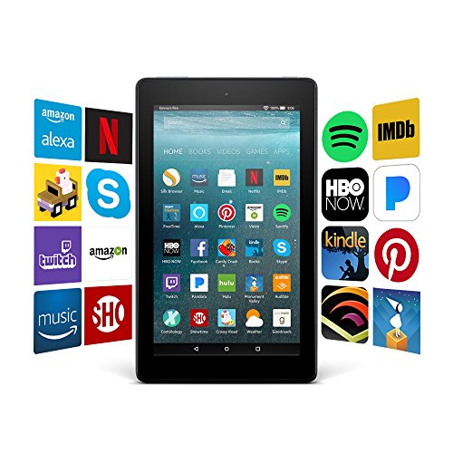 """Certified Refurbished Fire 7 Tablet (7"""" display, 8 GB) - Black with Special Offers (Previous Generation - 7th)"""