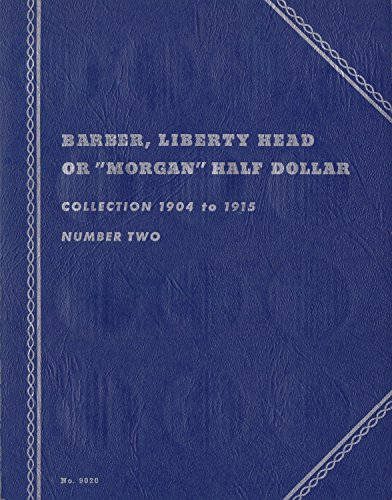 1904-1915-MORGAN-HALF-DOLLAR-LIBERTY-HEAD-USED-WHITMAN-No-9020-Or-COIN-ALBUM-BINDER-BOARD-BOOK-CARD-COLLECTION-FOLDER-HOLDER-PAGE-PORTFOLIO-PUBLICATION-SET-FOLDER