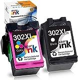 Starink Remanufactured Compatibili Per HP 302 302XL Cartucce d'inchiostro Per HP Deskjet 1110 2130 1115 2132 3632 ENVY 4520 4527 4524 4521 4522 Officejet 3830 3831 4650 3832 (1 Nero,1 Tricromia)