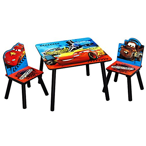 TW24 Sitzgruppe - Kindertisch - Kinderstuhl - Kindersitzgruppe mit Motivauswahl (Cars)
