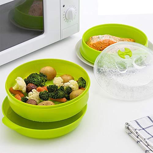 Vapeur double micro-ondes cuiseur vapeur légumes autocuiseur rapide