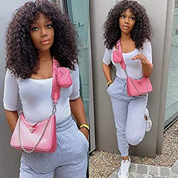 Laivay Human Hair Bob Wigs Jerry Curl Short Wigs Full Machine Weaving 2# Brown Color 150% Density 12 Inches 150g