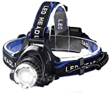 Headlamp Rechargeable Headlights Waterproof Flashlight - 1800 lumens Camping and Outdoor Headlamps,Compatible Hardhat Safety LED Head Lamp Light, Include Car Charger and USB Cable