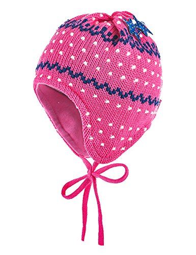 maximo Baby-Mädchen Struktur, Bindeband Mütze, Rosa (Fandango Pink 60), 47