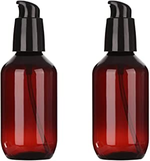 koolory 2 Pack Amber Soap Dispenser 100ml Foaming Bottle Liquid Shampoo Shower Gel Pump Container Refillable Home Bath Tra...