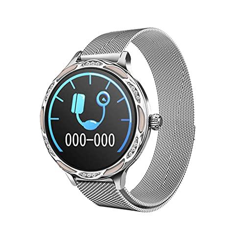 QIXIAOCYB M9 Women's Smart Watch IP68 Rastreador Deportivo Impermeable Monitoreo del sueño Mujeres Mestrual Ciclo de recordatorio Muñeca de Las Mujeres (Color : A)