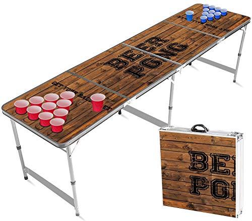 Offizieller Hole Beer Pong Tisch Set   Full Pack   Inkl. 1 Beer Pong Tisch Becherhalterung + 120 Becher 53cl (60 Rot & 60 Blau) + 6 Ping-Pong-Bälle   Premium Qualität   Partyspiele   Trinkspiele