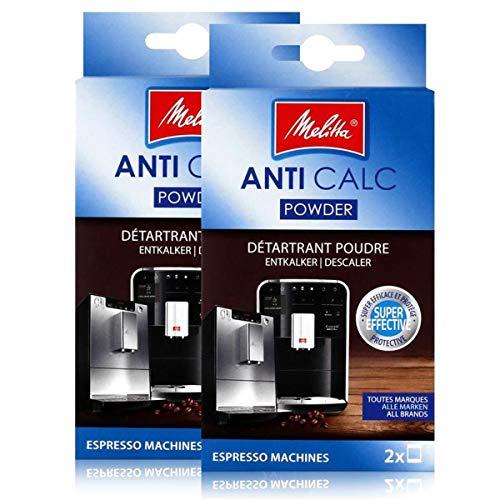 2x Melitta Anticalc Espresso Machines