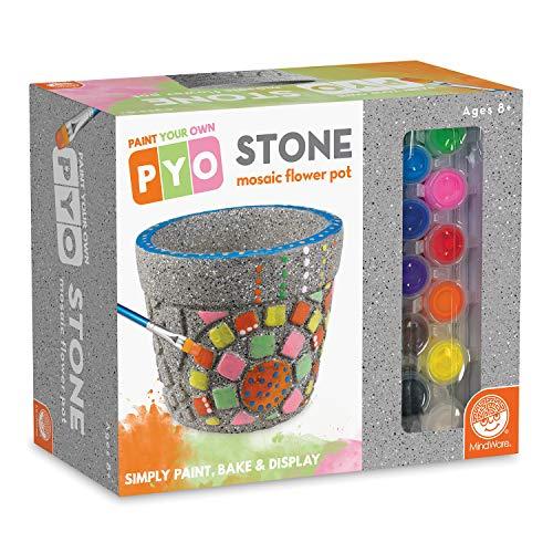 MindWare Paint Your Own Mosaic Flower Pot