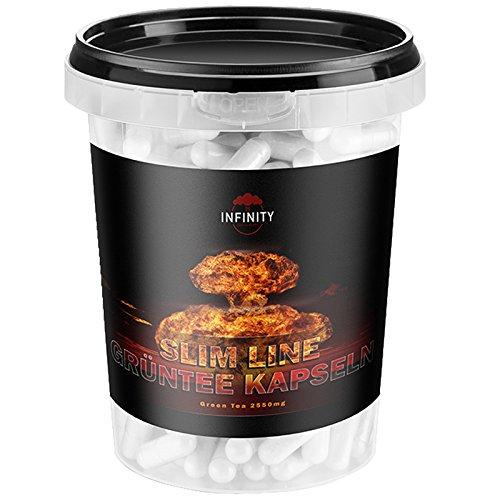 300 Kapseln - Slim Line Grüntee Extrakt, Green Tea, Hochdosiert - 850mg pro Kapsel, Grüner Tee