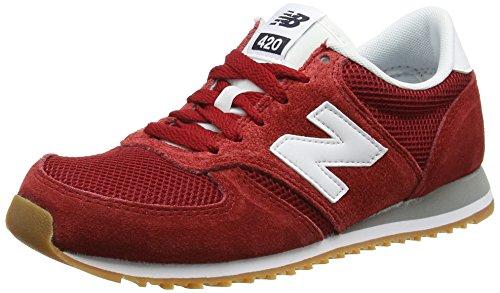 New Balance 420 70s Running Suede, Zapatillas Unisex Adulto, Rojo (Red), 44.5 EU