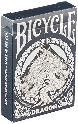Bicycle Dragon - Baraja de Cartas para coleccionistas, Color Azul y Plateado, 1041709