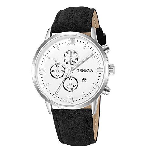 Hffan Herren Armbanduhr Männer Jungen Einfach Stil Sport Analoge Quarz Uhr mit Armbanduhr Geschenk Set