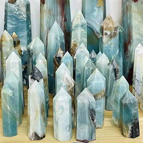 GHJGHJ Puntos de Cristal Natural Pilar Polidado Chakra Decoración del hogar Accesorios (Size : 1 Piece)