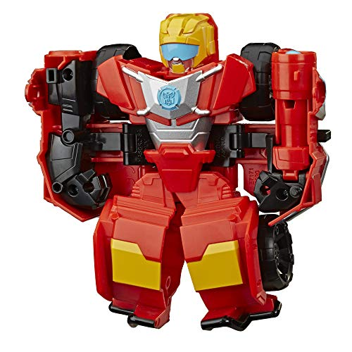 Transformers Playskool Heroes Rescue Bots Academy Hot Shot Converting Toy Robot, 6-Inch Collectible Action Figure Toy for Kids Ages 3 and Up