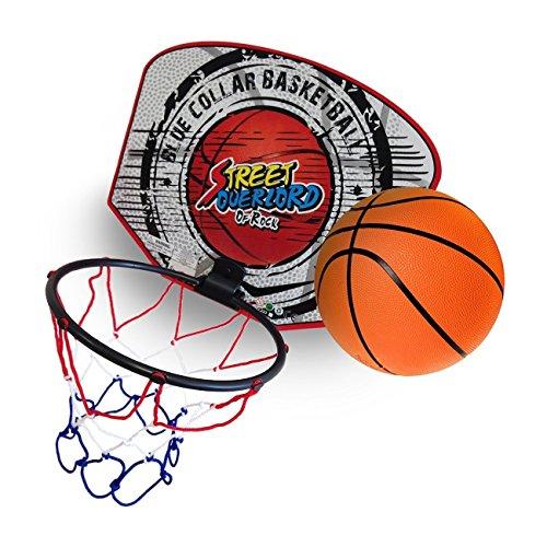 takestop Mini TABELLONE CANESTRO + Palla Basket con Rete da Muro Parete Pallacanestro Bambini Sportivo Giocattolo Fantasia Casuale