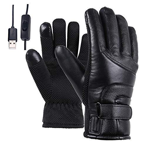 Langyinh Elektrische verwarmde handschoenen voor mannen en vrouwen, oplaadbaar handwarmer verwarmt wanten, aanraakgevoelig beeldscherm en waterdicht, voor artritis wintersport