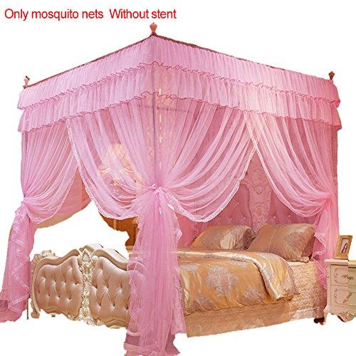 Somedays Das Beste Moskitonetz –moskitonetz doppelbett großes moskitonetz,Baldachin moskitonetz,150 * 200MM (Rosa)