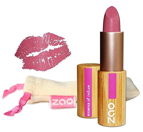 ZAO Matt Lipstick 461 pink rosa Lippenstift, in nachfüllbarer Bambus-Dose (bio, Ecocert, Cosmebio,...