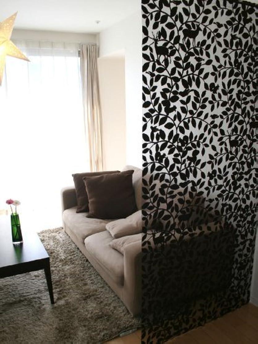 銀退屈させる答え北欧テイストロングのれん パネルカーテン「ウッディ」 (幅95×丈250cm, ブラウン)