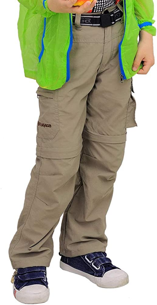 Waterproof Hiking Climbing Convertible Youth Trousers ADANIKI Boys Casual Outdoor Quick Dry Pants Kids Cargo Pant UPF 50