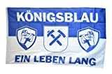 Flaggenfritze® Flagge Fanflagge Gelsenkirchen - Königsblau ein Leben lang - 90 x 150 cm