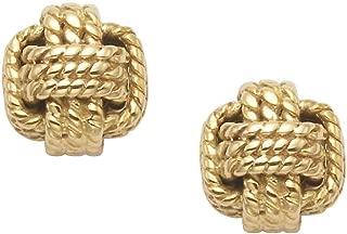14K Gold Sailers Knot Stud Earrings